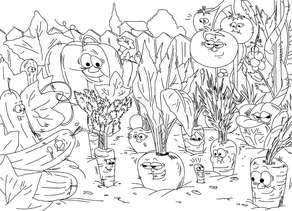 Vegetable Coloring Pages Garden