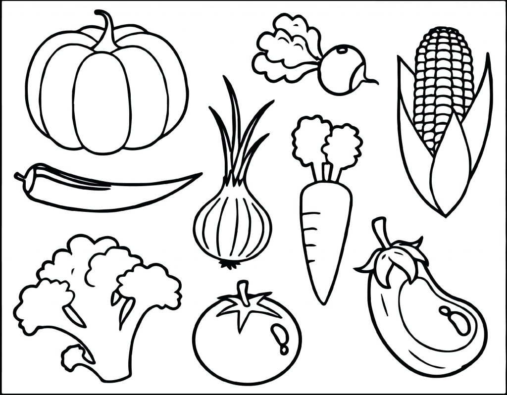 Vegetable Coloring Pages Healthy