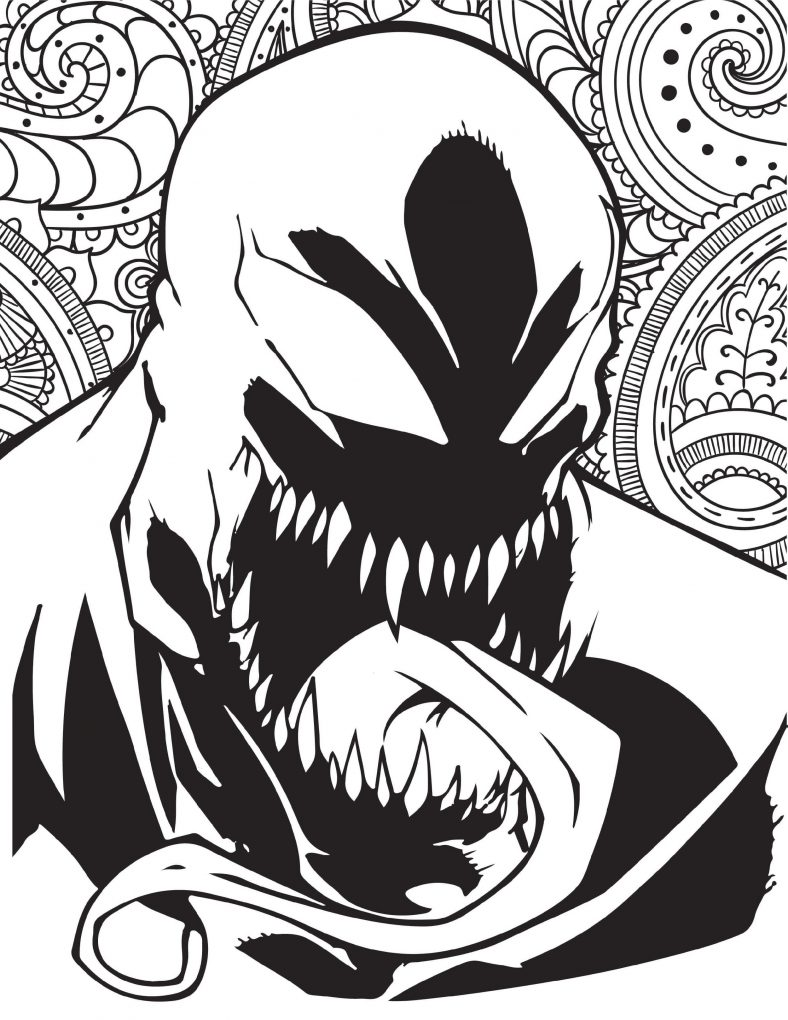 Venom Coloring Pages For Adults