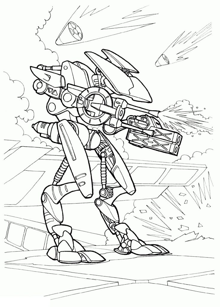 War Robot Coloring Pages