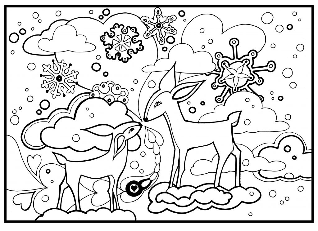 Wonderful Winter Coloring Pages 101 Coloring