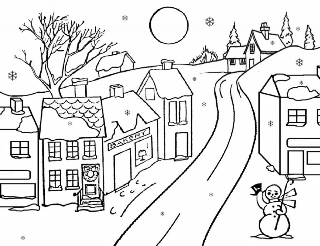 Winter December Coloring Pages