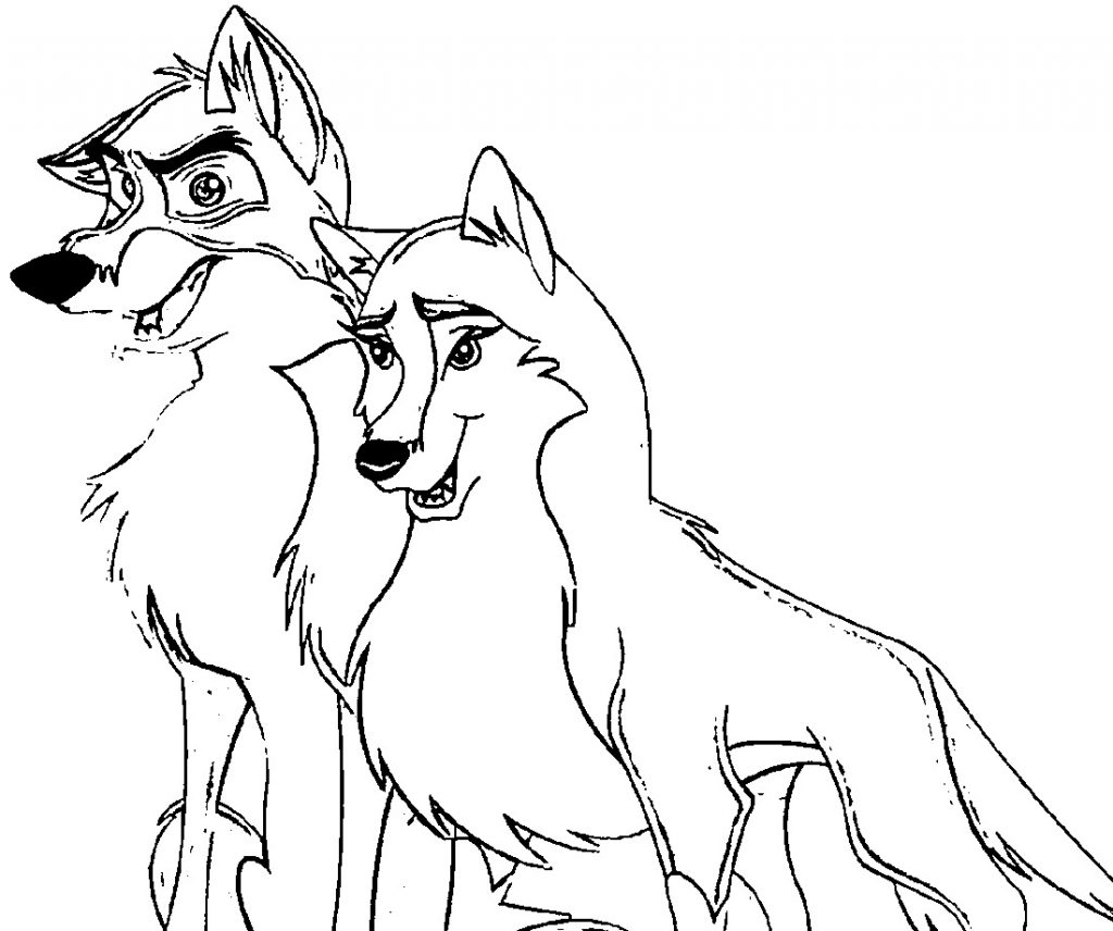 Wolf Coloring Pages Cartoon