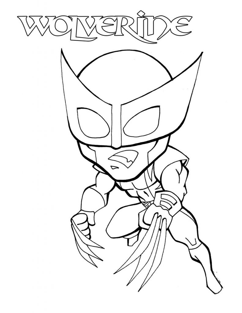 Wolverine Coloring Pages Chibi