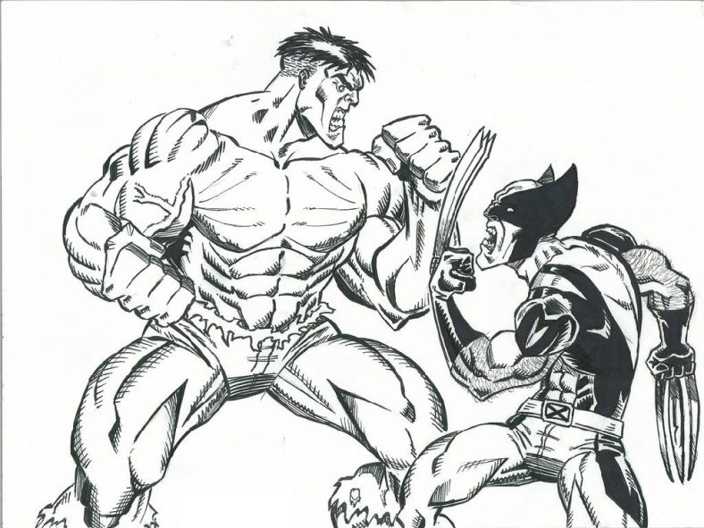 Wolverine Coloring Pages For Adults