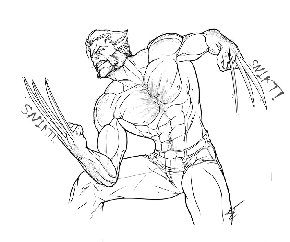 Wolverine Coloring Pages Logan