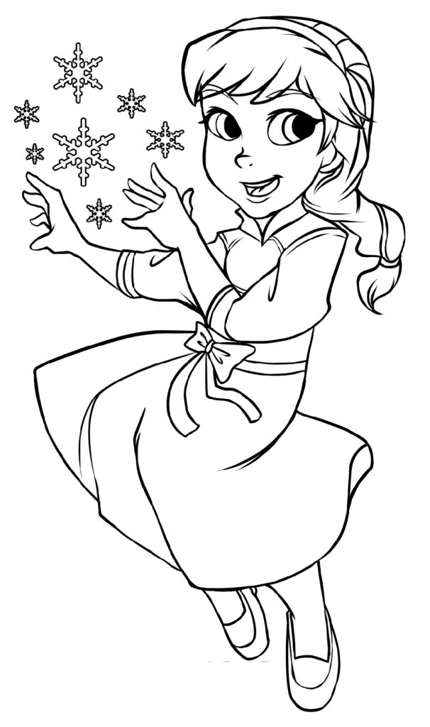 Young Elsa Coloring Pages